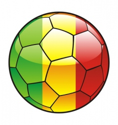 Mali flag on soccer ball vector
