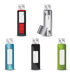 Usb flash drive set vector