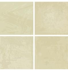 four pastel vintage backgrounds vector image