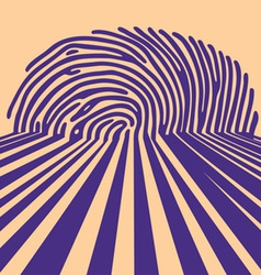 Abstract fingerprint vector