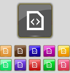 Programming code icon sign set with eleven colored vector
