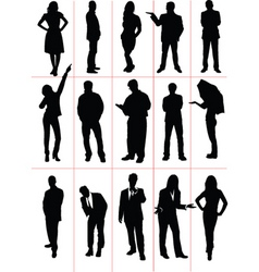 Silhouettes people vector