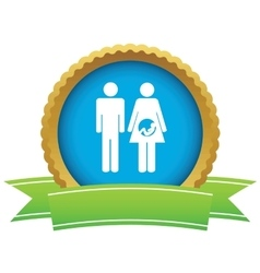 Young family certificate icon vector