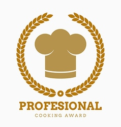 Award cook chef hat restaurant icon button set vector