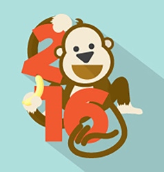 2016 cute monkey vector