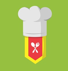 Restaurant chef cook food icon vector