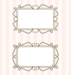 Retro fancy art deco frames vector