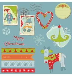 christmas design elements vector image
