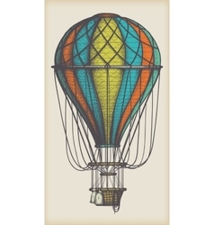 Old Air Balloon vector image