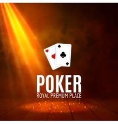 Shining casino banner poster show spotlight vector