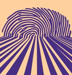 abstract fingerprint vector image
