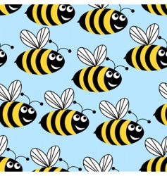 amusing bees vector image vector image