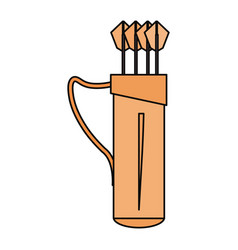 archery quiver isolated vector image