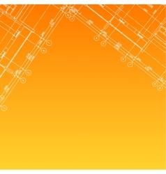 Architectural orange background vector image vector image