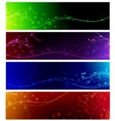 banner collection vector image vector image