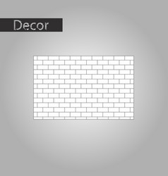 Black and white style icon brick wall vector
