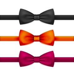 Bow Tie Bowtie Set Isolated on White vector image vector image