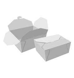 Boxes for food White gray container vector image