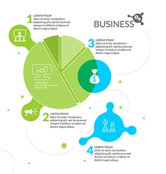Business Infographics Diagram vector image vector image