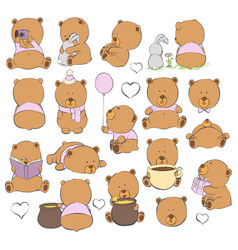 cartoon bears on a light background vector image vector image