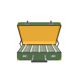 Case full of dollar vector image vector image