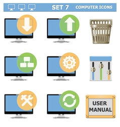 Computer icons set 7 vector
