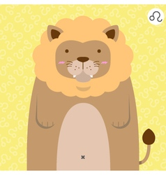 cute big fat leo zodiac cartoon vector image vector image