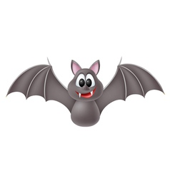 Cute cartoon bat vector image vector image