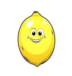 Cute little lemon with a happy grin vector image