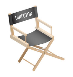 director empty chair isolated on white background vector image vector image