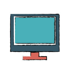 drawing screen monitor computer wireless vector image vector image