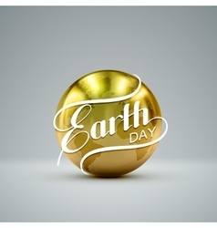 Earth Day sign design vector image