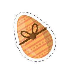 Easter egg decoration ornament - cut line vector