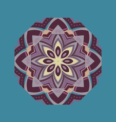 ethnic element round ornament vector image vector image