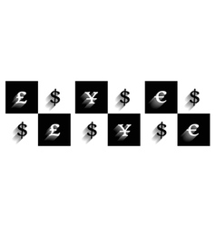 forex signs 2 vector image vector image