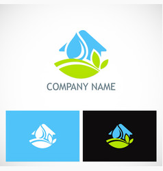 Home nature environment water logo vector