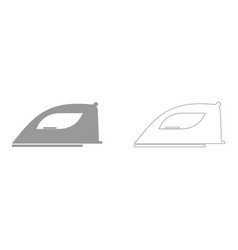 iron set icon vector image