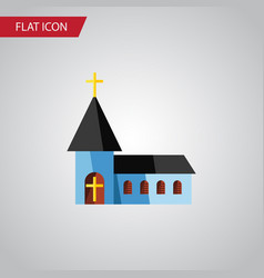 Isolated structure flat icon christian vector