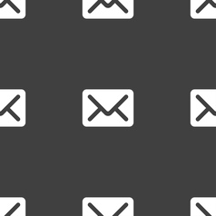 Mail envelope letter icon sign seamless pattern on vector