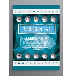 Medical brochure design vector image vector image