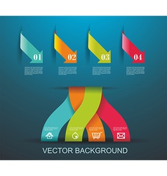 Modern origami style number options banner Can be vector image vector image