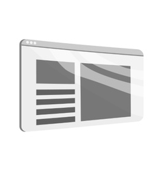 Newspaper icon black monochrome style vector