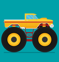 Off road car isolated on color background monster vector