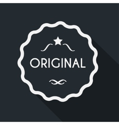 Original label with long shadow vector image