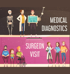 Orthopedist banners set vector