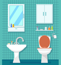 plumbing icons for bathroom vector image vector image