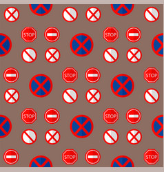 road signs traffic seamless pattern graphic vector image