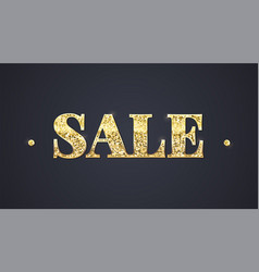 sale poster with text lettering on dark background vector image vector image