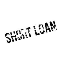 Short loan rubber stamp vector