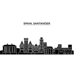 Spain santander architecture city skyline vector